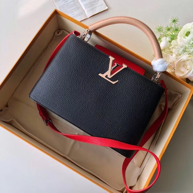 Louis Vuitton CAPUCINES PM M51814 black&pink&red