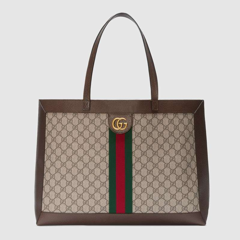 Gucci Ophidia GG tote with Three Little Pigs 547947 brown