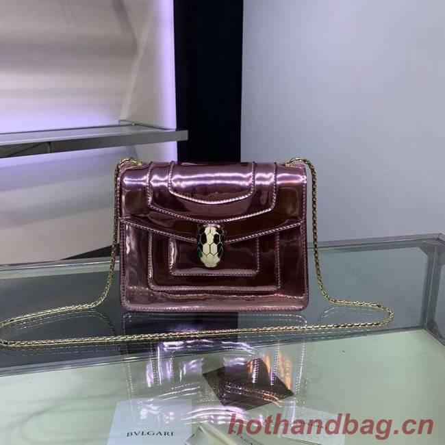 BVLGARI Serpenti Forever metallic-leather shoulder bag 34559 purple