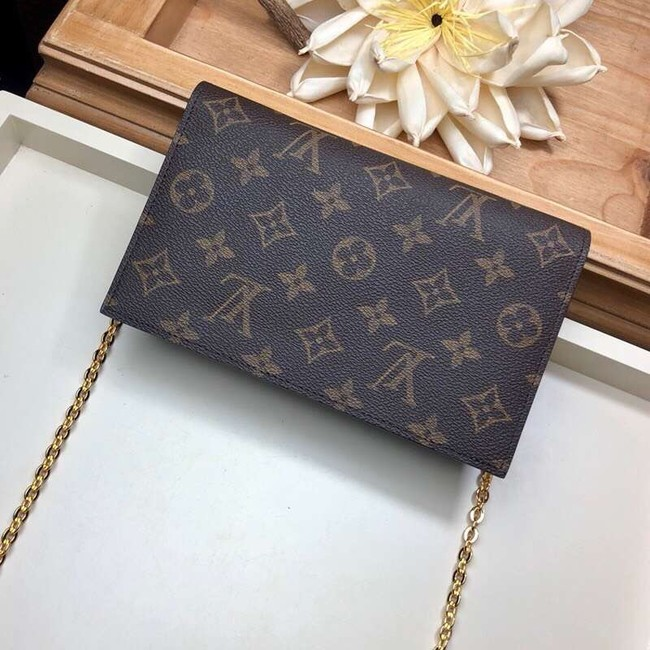 Louis Vuitton Monogram Canvas FLORE Chain Wallet M67404 black