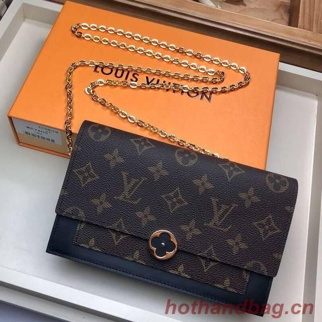 Louis Vuitton Monogram Canvas FLORE Chain Wallet M67404 black