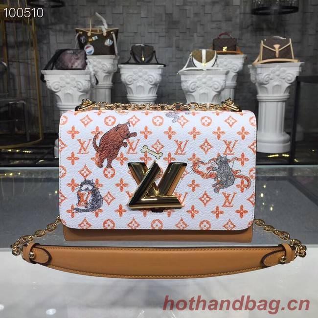 Louis Vuitton TWIST MM M50282 white&orange