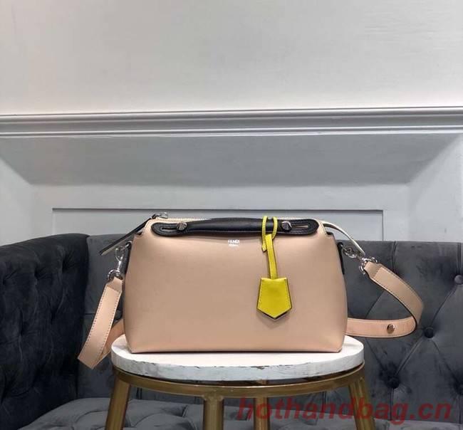 FENDI BY THE WAY REGULAR Small multicoloured leather Boston bag 8BL1245 cream&black