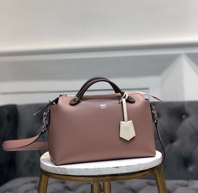 FENDI BY THE WAY REGULAR Small multicoloured leather Boston bag 8BL1245 dark pink