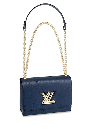 Louis vuitton original epi leather TWIST MM M52870 blue