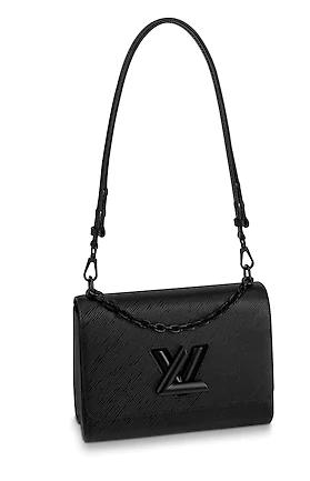 Louis vuitton original epi leather TWIST MM M53236 black