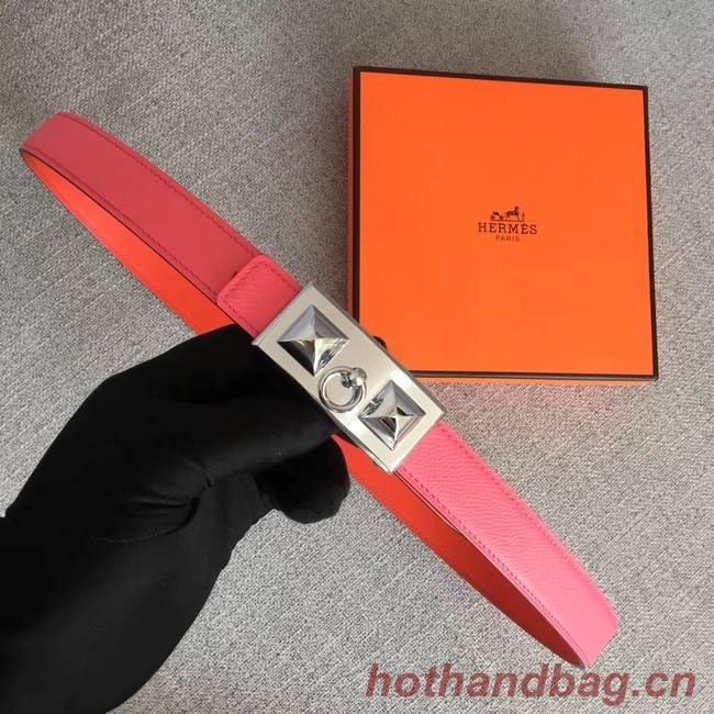 Hermes Collier de Chien belt buckle & Reversible leather strap 24 mm H0521 pink