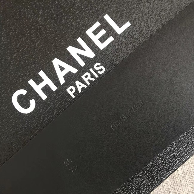 Chanel Wide leather belt with 53 mm CC4265 black