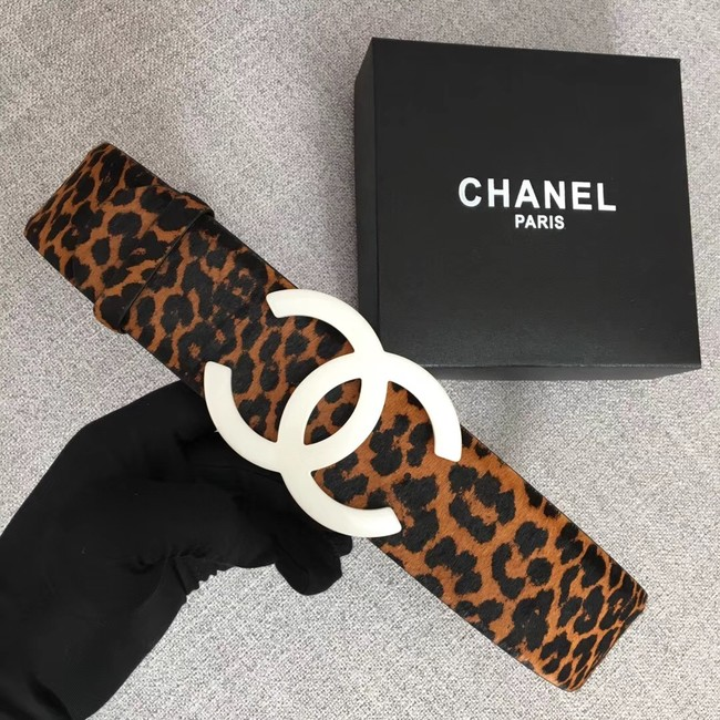Chanel Wide leather belt with 53 mm CC4265 white