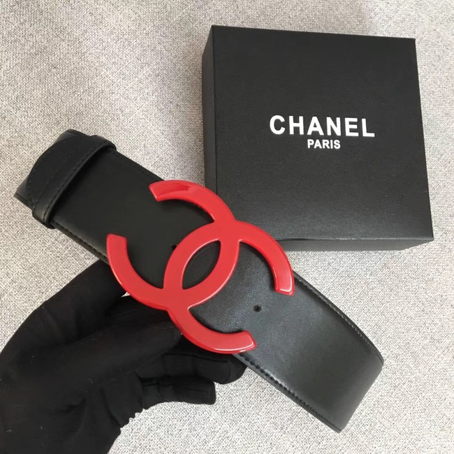 Chanel Wide leather belt with 53 mm CC4267 black