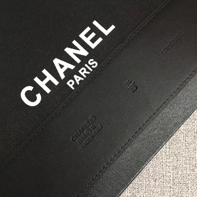 Chanel Wide leather belt with 53 mm CC4268 black