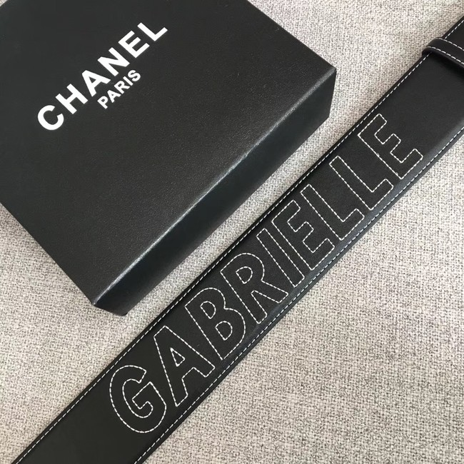 Chanel Wide leather belt with 53 mm CC4269 black