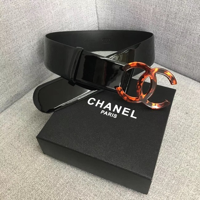 Chanel Wide leather belt with 53 mm CC4270 black