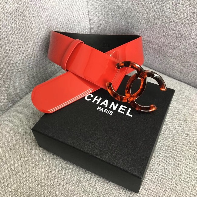 Chanel Wide leather belt with 53 mm CC4270 red