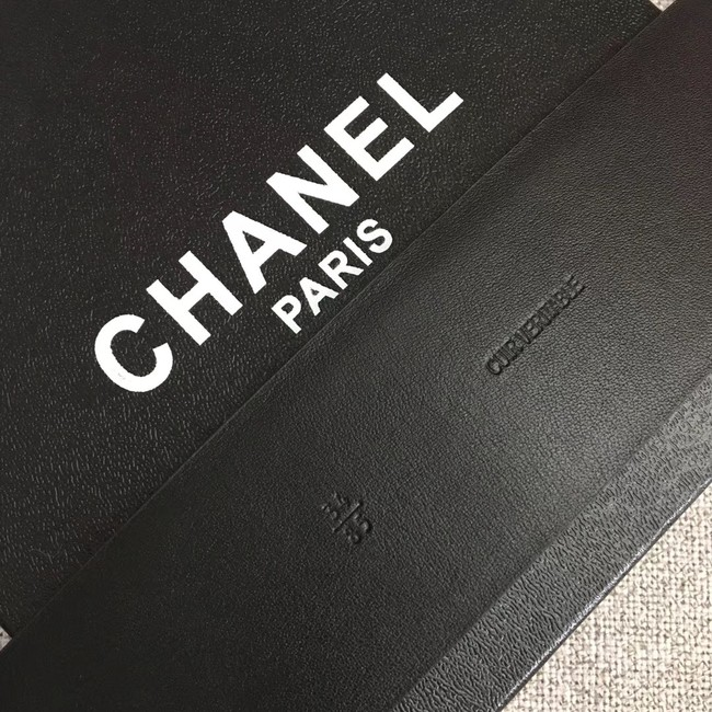 Chanel Wide leather belt with 53 mm CC4271 black