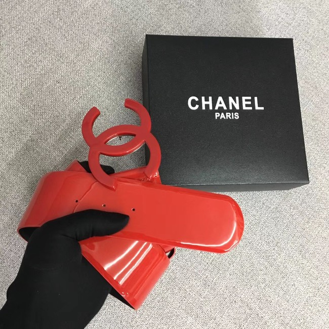 Chanel Wide leather belt with 53 mm CC4271 red