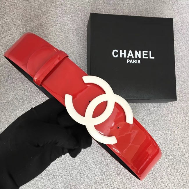 Chanel Wide leather belt with 53 mm CC4272 red
