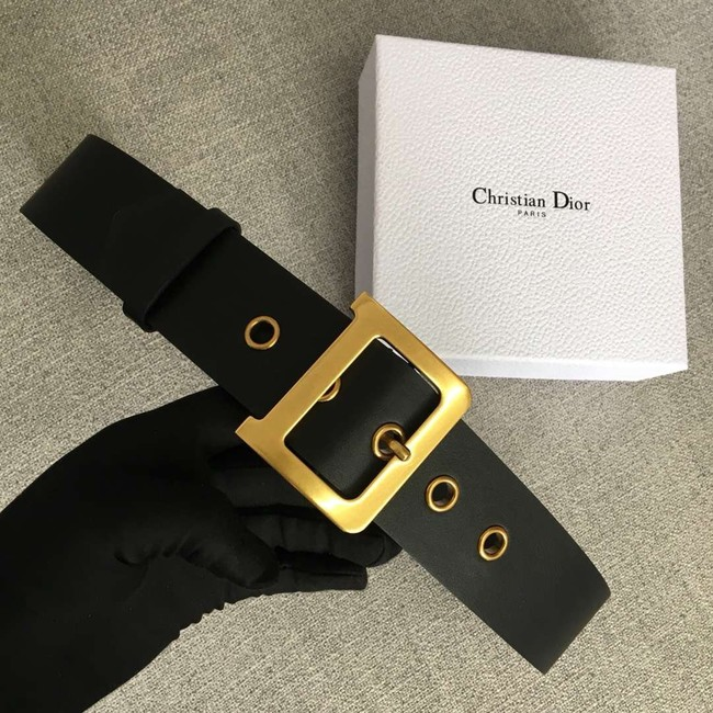 Dior Wide leather belt with 50 mm D4261 black