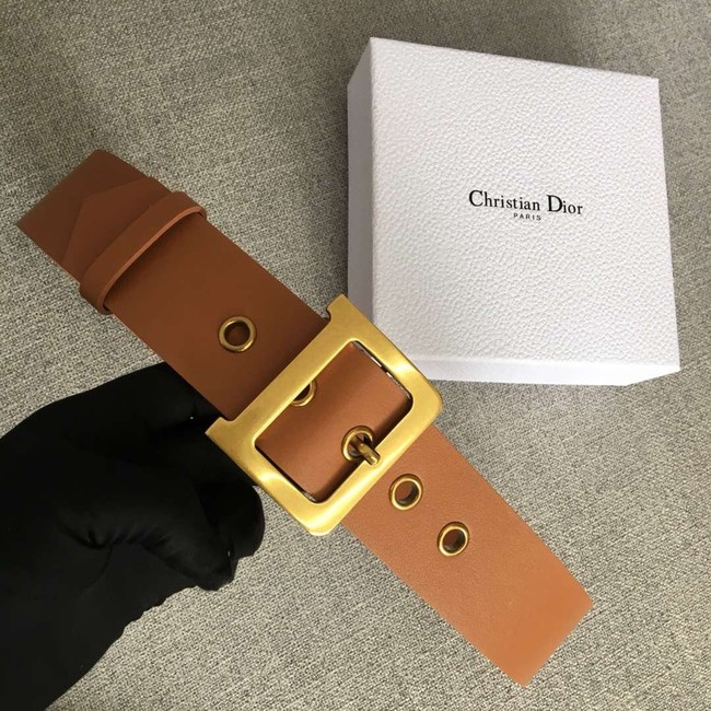 Dior Wide leather belt with 50 mm D4261 brown