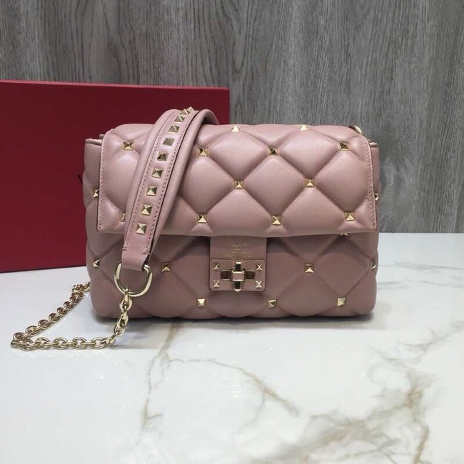 VALENTINO Candy quilted leather cross-body bag 0072 pink