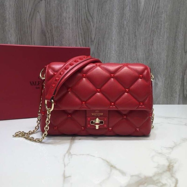 VALENTINO Candy quilted leather cross-body bag 0072 red