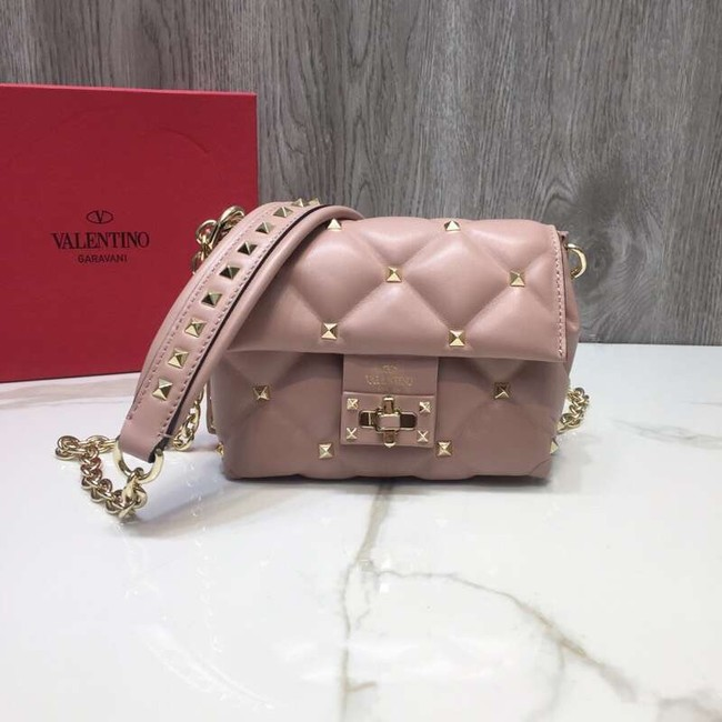 VALENTINO Candy quilted leather cross-body bag 0073 pink