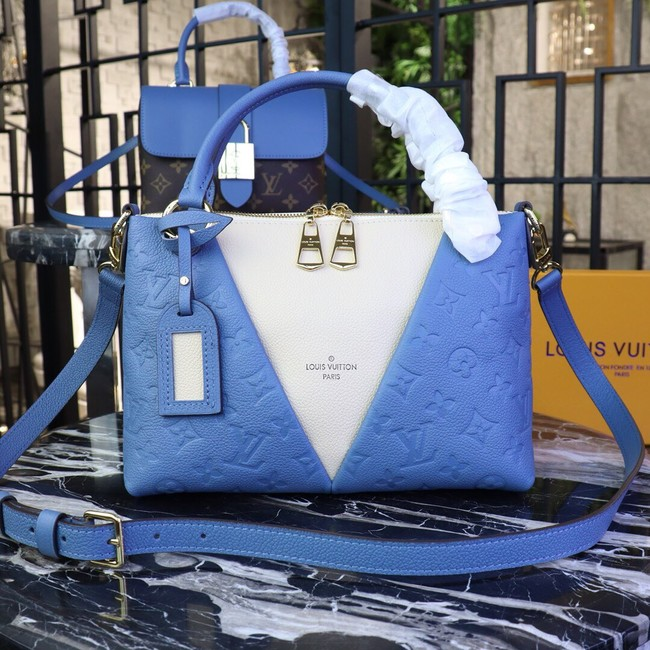 Louis vuitton original V TOTE BB M53886 blue&beige