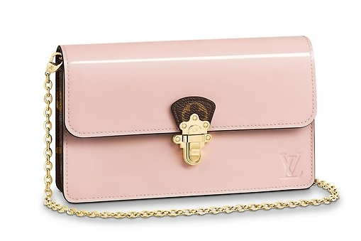 Louis Vuitton Original CHERRYWOOD CHAIN WALLET M63306 Rose Ballerine