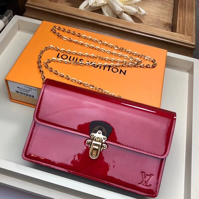 Louis Vuitton Original CHERRYWOOD CHAIN WALLET M63306 red