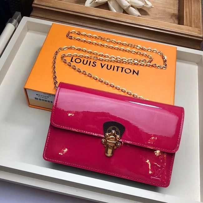 Louis Vuitton Original CHERRYWOOD CHAIN WALLET M63306 rose