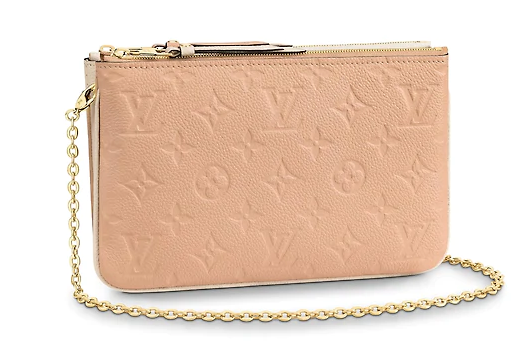 Louis Vuitton POCHETTE DOUBLE ZIP M63919 Beige Dore