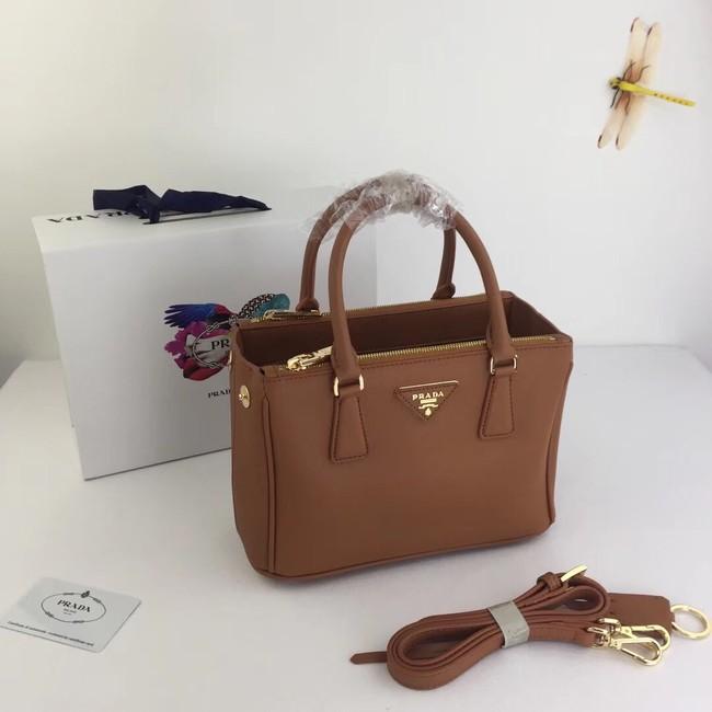 Prada Galleria Small Saffiano Leather Bag BN2316 brown