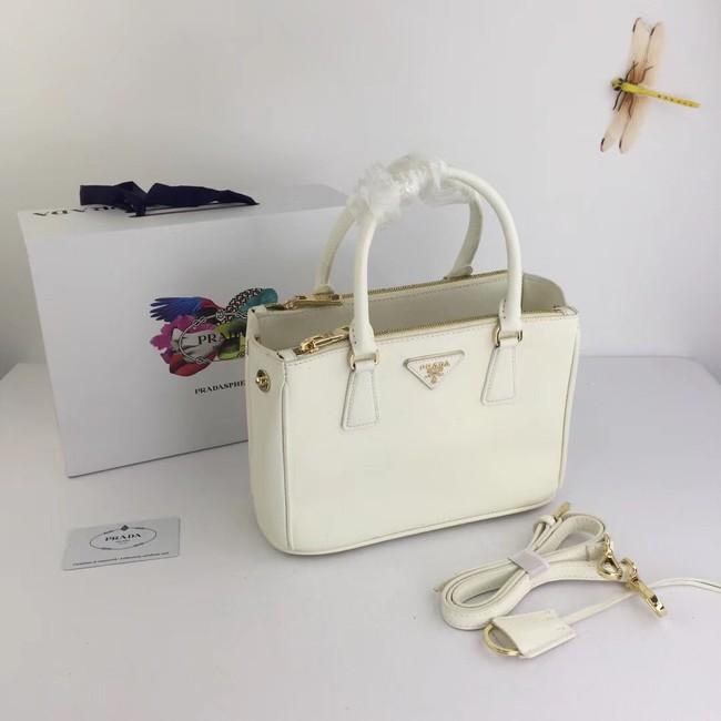 Prada Galleria Small Saffiano Leather Bag BN2316 white