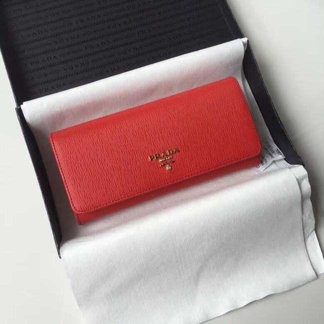 Prada Leather Wallet 1MH132 red