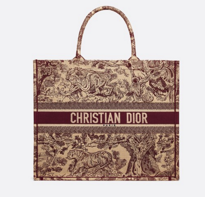 DIOR BOOK TOTE BAG TOILE DE JOUY M1286ZT Oxblood red
