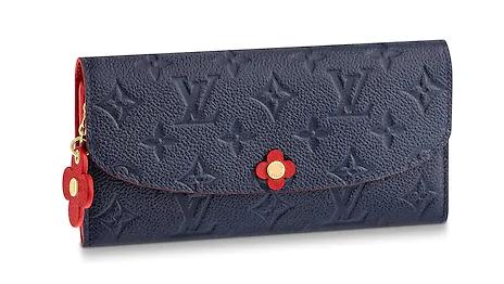 Louis Vuitton EMILIE WALLET M63918 Navy Blue
