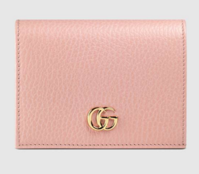 Gucci Leather card case 456126 Light pink