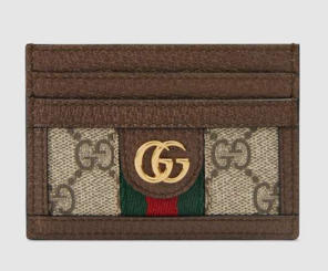 Gucci Ophidia GG card case 523159 brown