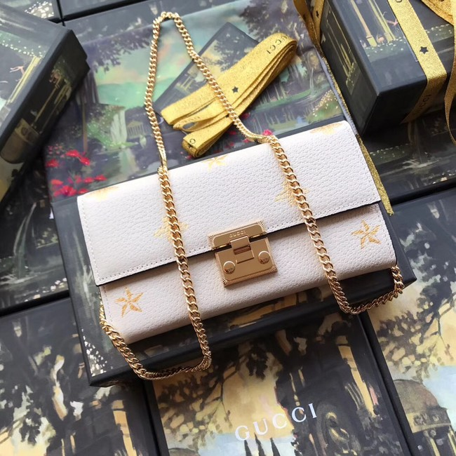 Gucci Padlock Wallet Calfskin Leather 453506 white