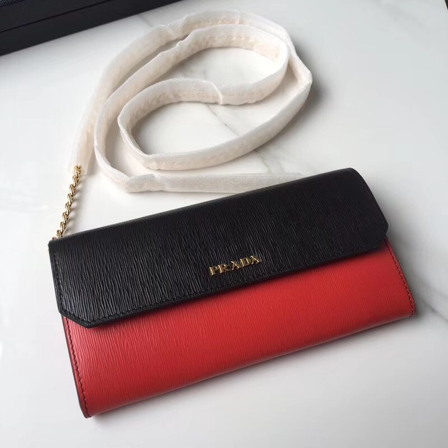 Prada leather mini-bag 1DH002 red&black