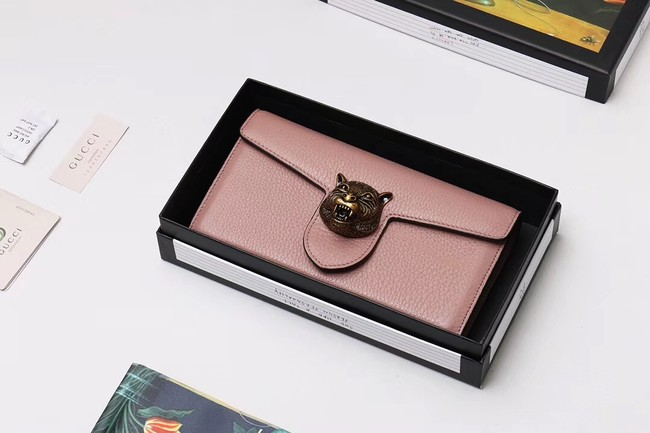 Gucci Calf leather Wallet 414985 dark pink