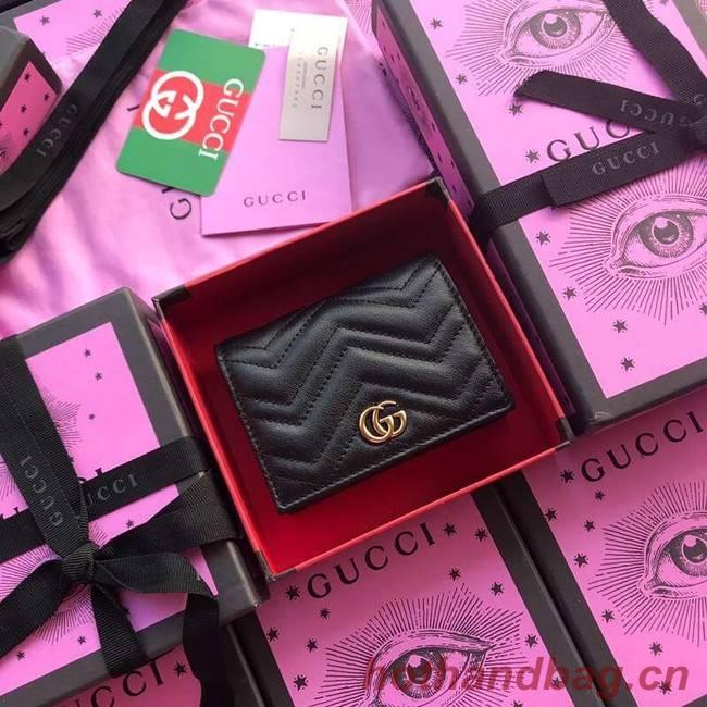 Gucci GG Marmont card case 466492 black