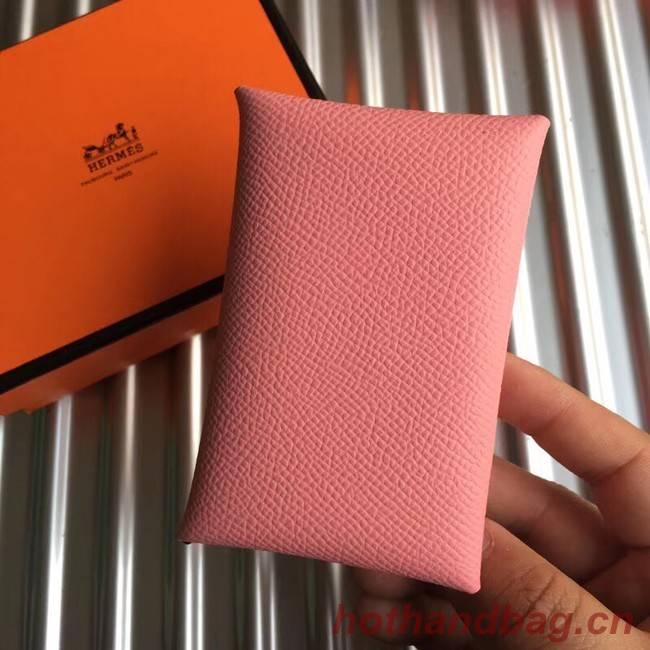 Hermes Bastia Epsom card case H0369 pink
