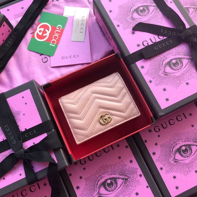 Gucci GG Marmont card case 466492 light pink