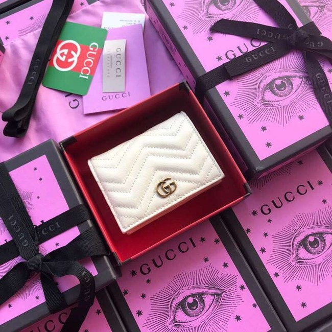 Gucci GG Marmont card case 466492 white