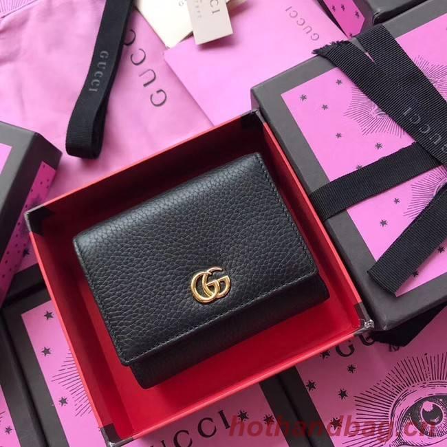 Gucci GG Marmont card case 474746 black