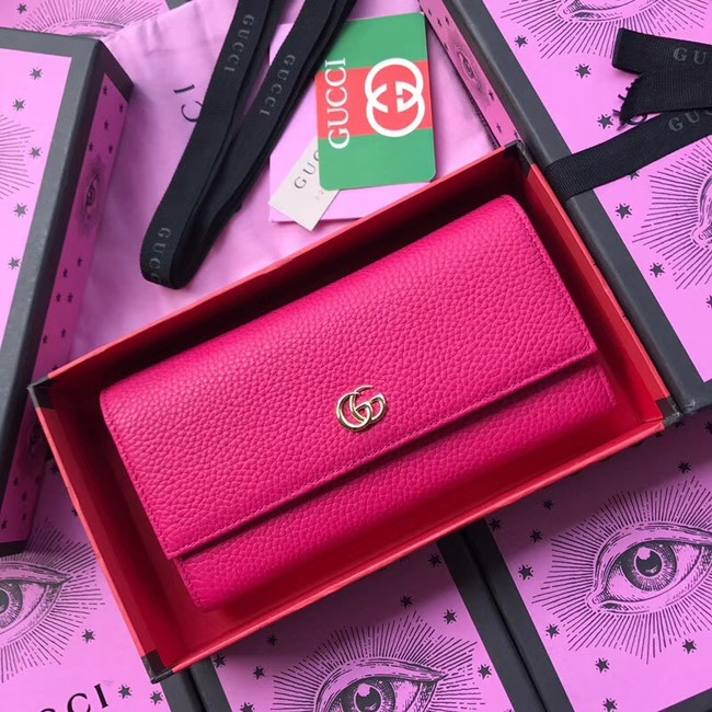 Gucci GG Marmont leather wallet 456116 rose