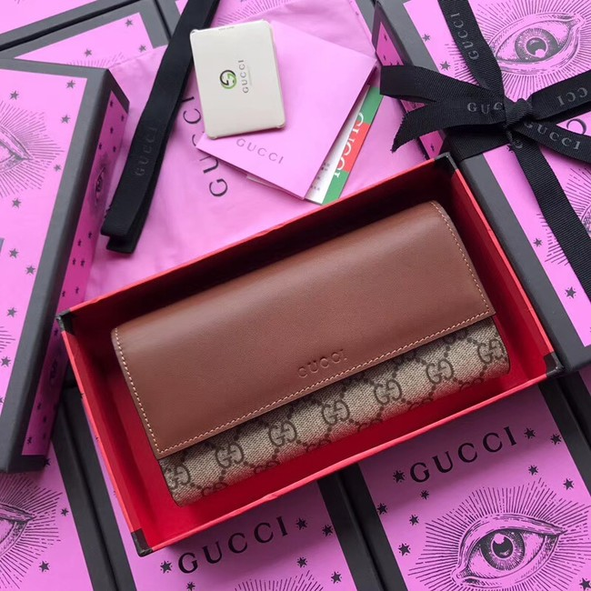 Gucci GG Supreme wallet 410100 brown