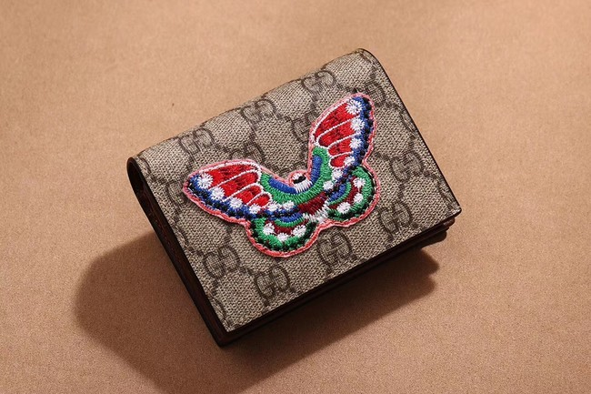 Gucci Ophidia GG card case 456866 Butterfly