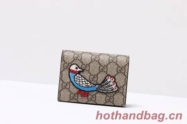 Gucci Ophidia GG card case 456866 bird